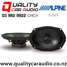 "Alpine S-S69 6x9"" 260W (85W RMS) 2 Way Coaxial Car Speakers (pair) with Easy Finance"