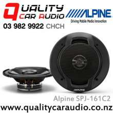 "Alpine SPJ-161C2 6"" 250W Max 2 Ways Coaxial Car Speakers (Pair) with Easy LayBy"