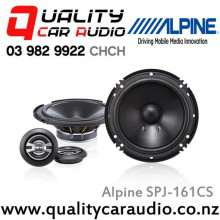 "Alpine SPJ-161CS 6"" 250W 2 Ways Car Component Speakers (Pair) with Easy LayBy"