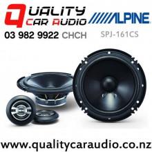 "Alpine SPJ-161CS 6"" 250W (50W RMS) 2 Ways Car Component Speakers (pair) with Easy Finance"
