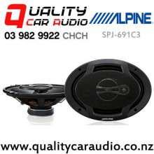 """Alpine SPJ-691C3 6x9"""" 400W (60W RMS) 3 Ways Coaxial Car Speakers (pair) with Easy Finance"""