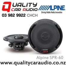 "Alpine SPR-60 6.75"" 300W 2 Ways Coaxial Car Speakers (Pair) with Easy Layby"