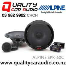 "ALPINE SPR-60C TYPE-R 6.5"" 330W 2 Ways Prodigious Power Component Speakers (pair) with Easy LayBy"