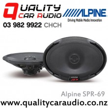 "Alpine SPR-69 6x9"" 300W 2 Ways Coaxial Car Speakers (Pair) with Easy LayBy"