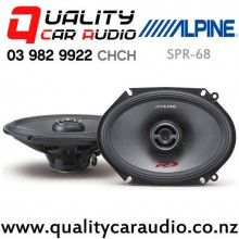 "Apline SPR-68 5x7"" / 6x8"" 300W (100W RMS) 2 Way Coaxial Car Speakers (pair) with Easy Finance"