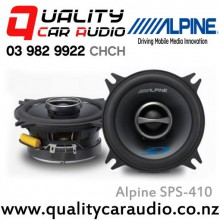 "Alpine SPS-410 4"" (10cm) 140W 2 Ways Coaxial Car Speakers (Pair) with Easy Layby"