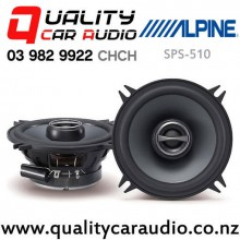 """Alpine SPS-510 5.25"""" 170W (55W RMS) 2 Ways Coaxial Car Speakers (pair) with Easy Finance"""