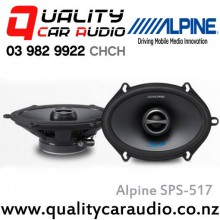 "Alpine SPS-517 5x7"" / 6x8"" 230W 2 Ways Coaxial Car Speakers (Pair) with Easy Layby"