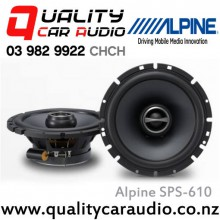 "Alpine SPS-610 6.5"" 240W 2 Ways Car Coaxial Speakers (Pair) with Easy LayBy"
