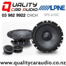 "Alpine SPS-610C 6.5"" 240W (80W RMS) 2 Ways Car Component Speakers (pair) with Easy Finance"