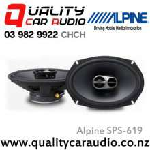 "Alpine SPS-619 6x9"" 3 Ways 260W Coaxial Car Speakers (Pair) with Easy LayBy"