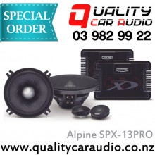 "Alpine SPX-13PRO Type X 5.25"" 240W 2 Ways Top Model Car Component Speakers (Pair) with Easy LayBy"