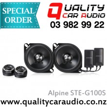"Alpine STE-G100S 4"" 100W Components Speakers - Easy LayBy"