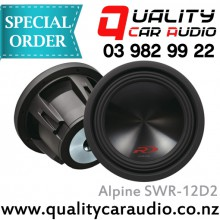 """Alpine SWR-12D2 12"""" 3000W Dual 2 ohms Voice Coil Car Subwoofer with Easy Layby"""