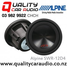 "Alpine SWR-12D4 12"" 3000W Type-R Dual 4 Ohm Subwoofer with Easy LayBy"