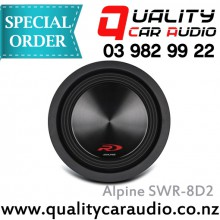 """Alpine SWR-8D4 8"""" (20cm) 1000W Dual Voice Coil (2 Ohms)  Subwoofer with Easy LayBy"""