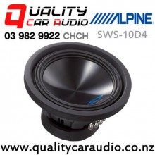 """Alpine SWS-10D4 10"""" 1000W (500W RMS) 4 ohm Dual Voice Coil (DVC) Car Subwoofer with Easy Finance"""