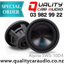 """Alpine SWS-10D4 10"""" 1000W 4 ohm Dual Voice Coil (DVC) Subwoofer with Easy LayBy"""