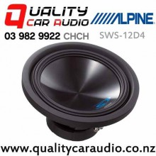 """Alpine SWS-12D4 12"""" 1500W 4 ohm Dual Voice Coil (DVC)  Subwoofer with Easy Finance"""