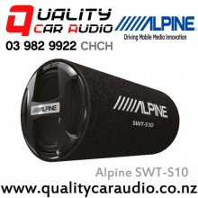 "Alpine SWT-S10 10"" 1200W Bass Reflex Subwoofer Tube with Easy LayBy"
