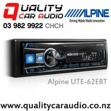 Alpine UTE-62EBT Bluetooth USB AUX Ipod Mechless NZ Tuners 3x Pre Outs Car Stereo with Easy LayBy