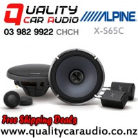 "Alpine X-S65C 6.5"" 330W (120W RMS) 2 Way Component Car Speakers (pair) with Easy Finance"