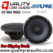 "Alpine X-S65 6.5"" 330W (110W RMS) 2 Way Coaxial Car Speakers (pair) with Easy Finance"