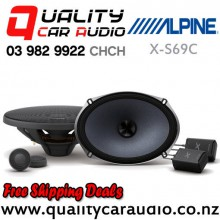 "Alpine X-S69C 6x9"" 360W (120W RMS) 2 Way Component Car Speakers (pairs) with Easy Finance"