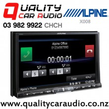 """Alpine X008 8"""" Navigation Bluetooth DVD USB Car Stereo with Easy LayBy"""