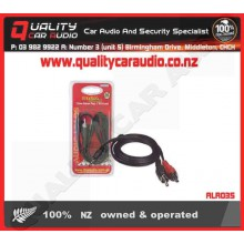 DNA ALR035 3.5mm AUX IN Plug to 2 RCA Lead 1.5M with Easy LayBy