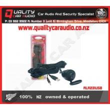 ALR231USB Flush Mount 3.5 & USB Socket to 3.5 Plug - Easy LayBy