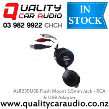 ALR235USB Flush Mount 3.5mm Jack - RCA & USB Adapter