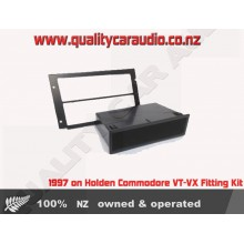 ALVT Holden Commodore VT - VX Facia kits for Single Din Size Stereo with Easy Layby