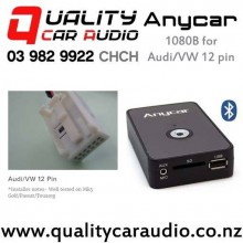 ANYCAR 1080B Bluetooth & USB/SD/AUX for Audi/VW 12 pin with Easy Finance Fitted from $279