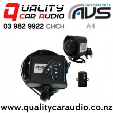 AVS A4 Dual Immobilizer Shock Sensor Battery Back-up Siren Bonnet & Doors Protect 4 Stars Car Alarm with Easy Finance