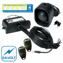 AVS S4 24-VOLT FOUR STAR CAR ALARM FITTED