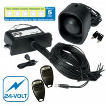 AVS S5 24-VOLT FIVE STAR CAR ALARM FITTED