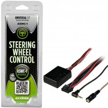 AXXESS ASWC1 OEM Steering Wheel Control Interface Adaptor for Most Cars with Easy Layby
