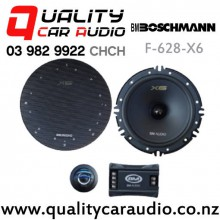 "Boschmann F-628-X6 6.5"" 250W (80W RMS) 2 Way Component Car Speakers (pair) with Easy Finance"