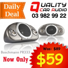 Boschmann PR333 120W 3 Ways Car Audio Box Speakers (Pair) wit Easy Layby