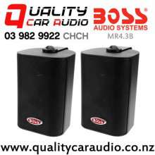 Boss MR4.3B 200W (100W RMS) 3 Way Enclosed Marine Speakers (pair) with Easy Finance