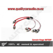 Cerwin-Vega 1MTO2F 1-male to2 female Y adaptor - Easy LayBy