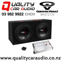 """Cerwin Vega BKX7212V Dual 12"""" Subwoofer Basskit with 1000W Amplifier with Easy Payments"""