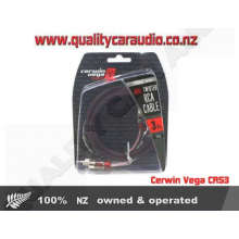 Cerwin Vega CRS3 Stroker Series Dual Twisted RCA 3ft Cable - Easy LayBy