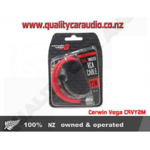 Cerwin Vega CRVY2M Dual Twisted RCA Cable Y2M-2pcs - Easy LayBy