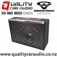 "Cerwin Vega H6TE12SV 12"" 400W (150W RMS) Car Active Subwoofer Enclosure with Easy Layby"