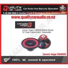 """Cerwin Vega V104DV2 Mobile Series 10"""" Dual Subwoofer - Easy LayBy"""