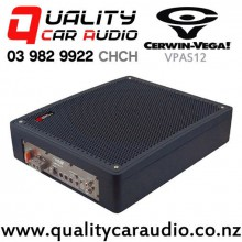 """Cerwin Vega VPAS12 12"""" 600W (250W RMS) Shallow Mount Sealed Powered Car Subwoofer with Easy Finance"""