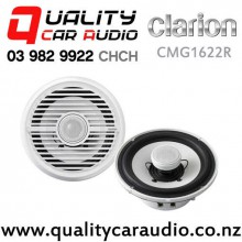 "Clarion CMG1622R 6.5"" 100W (40W RMS) 2 Way Coaxial Marine Speakers (pair) with Easy Finance"