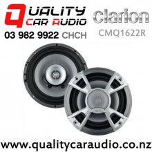 "Clarion CMQ1622R 6.5"" 120W (60W RMS) Coaxial Marine Speakers (pair) with Easy Finance"